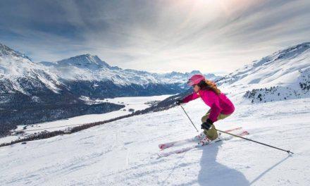 Skiing Solo.