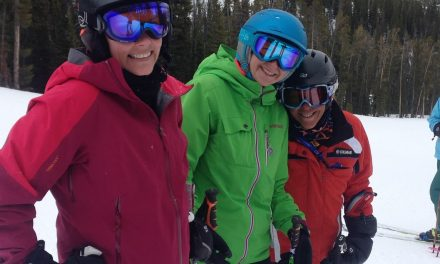 Making ski friends.