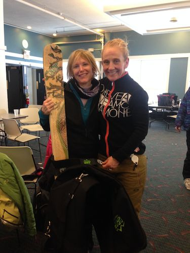 A member of my group won a free pair of Ramp skis!