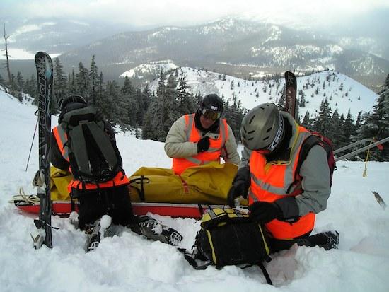 Ski Patrol at Mt. Bachelor