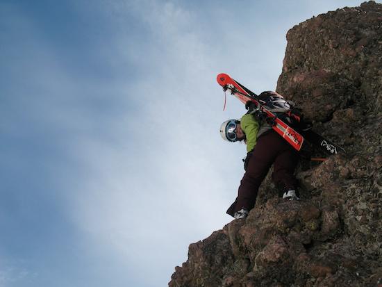 Brittany climbing Crestone Needle