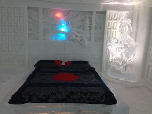 A room in the Ice Hotel