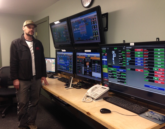 Stowe's snowmaking operations center