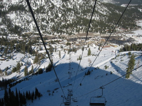 Looking down the KT-22 Lift at Squaw