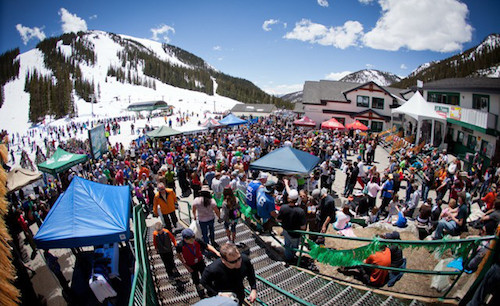 Partying at A-Basin! Photo from FriscoLodge.com