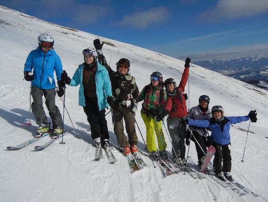 Some of the Ski Divas at Big Sky