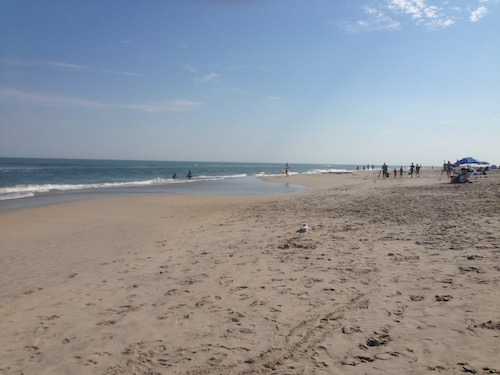 The beach at Chincoteague, Virginia