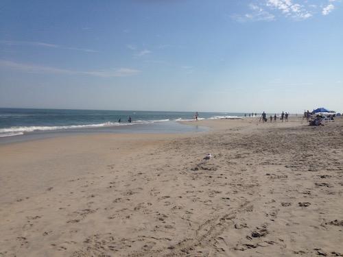 The beach at Chincoteague, Virginia