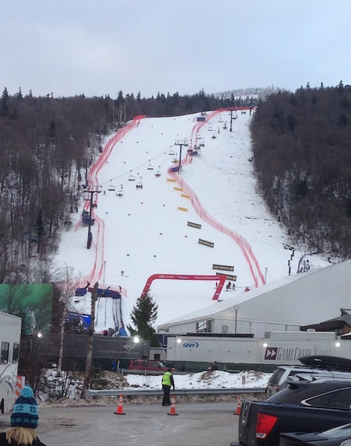 The lower GS course on Superstar