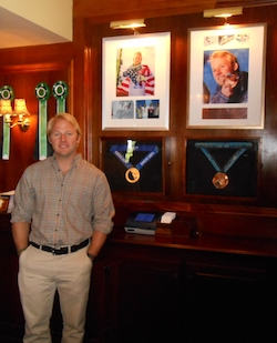 Andrew Weibrecht stands by his medals