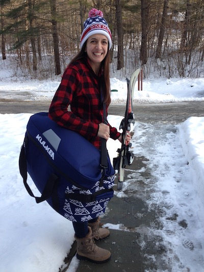 Emily with her Kulkea Tandem Bag.