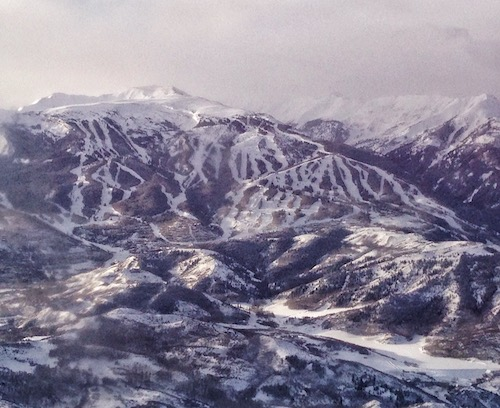 Aspen Snowmass from the window of my plane.