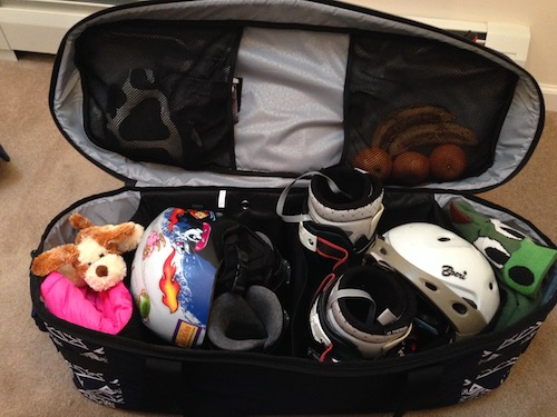 Kulkea Tandem Bag, all packed and ready to go.